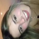 Gisele loira gostosa de SP caiu na net pedindo porra na cara