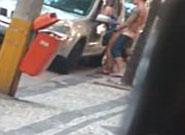 Flagra de trepada gostosa durante o dia na rua