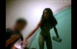 Samba porno gratis novinha Flávia caiu na net pagando o boquete